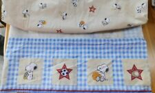 Baby Boy Nursery~PEANUTS SNOOPY SPORTS~Crib Fitted Sheet & Bedskirt Dust Ruffle