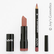 2 NYX Round Lipstick 529 Thalia + Slim Lip Liner 810 Natural *Joy's cosmetics*
