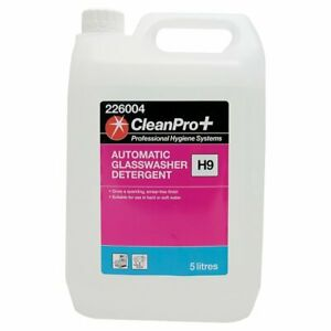CleanPro+ Automatic Glasswasher Detergent H9 5 Litres Cleaning Hygiene