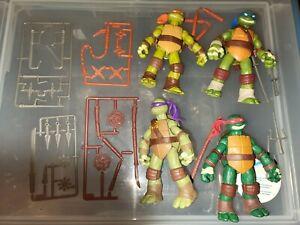 Teenage Mutant Ninja Turtles Action Figures, lot of 4, Playmates 2012
