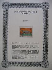 Irrtümer auf Briefmarken / Guinée 1968 Guinea Mi 498 : Afrikanische Tierwelt