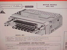 1960 CHRYSLER IMPERIAL 300F WINDSOR NEW YORKER CONVERTIBLE RADIO SERVICE MANUAL