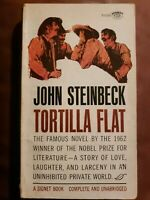 Tortilla Flat by John Steinbeck - 1963 Vintage Signet Classic Paperback - Good!