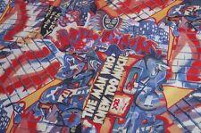 Baumwolle Stretch Stoff blau-bunt Stoff für Männer Graffiti Meterware #03155