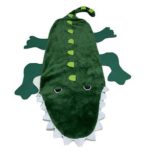 Green Alligator Crocodile Croc Wearable Kids Blanket Sleeping Bag Snuggie Plush