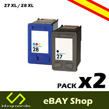 2 Cartuchos Compatibles 27 XL Negro y 28 XL Color para HP PSC 1315