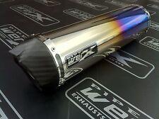 Suzuki SV 1000 Pair of Colour Titanium Round, Carbon Outlet, Exhausts, Silencers