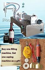 30-300Ml with bottle capper,foot pedal,single head liquid filling machine