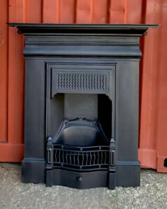 Antique Cast Iron Fireplace 🚛 Delivery £35 Most Uk Or Free