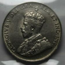 Canada 1923 5 Cents, ICCS Graded AU55, Old Date KGV