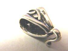 Plata Esterlina bucle Bail 4 Colgantes De Diseño De Lujo ~ OXIDADO ACABADO ~ 8mm X 5 Mm