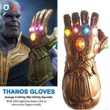 Kids Avengers Infinity War Infinity Gauntlet LED Light Thanos Gloves Cosplay UK