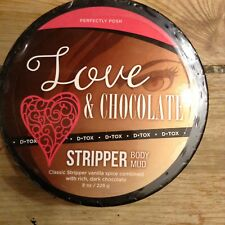 Perfectly Posh Love & Chocolate Stripper Body Mud Sealed 8oz New