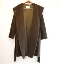 Authentic Max Mara Alpaca Coat with Belt Made in Italy Size 2