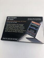 Organizer IC Card oz 702A thesaurus spelling for Sharp Wizard PDA