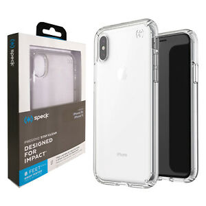 Speck® Presidio Stay Clear Tough Shockproof Case for iPhone XS & X - Transparent