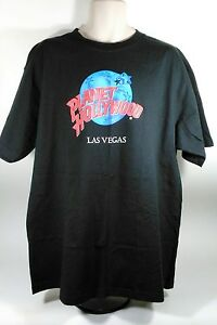 Vintage T-Shirt Planet Hollywood Las Vegas Nevada X-Large Black