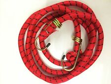 """72""""/6FT HIGH QUALITY ELASTIC BUNGEE CORD RED HOOK CAMPING LUGGAGE STRAP BUNGIE"""