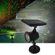 Solar Power LED Laser Projector Light Flash Outdoor Garden Xmas Decor Waterproof