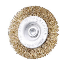 15X Wire Brass Brushes Polishing Brush Cup Grinder Wheels Set for Dremel Rotary