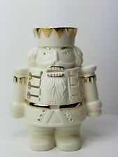 Mikasa Holiday Elegance Nutcracker Candle Votive Cream Gold Trim Christmas Decor