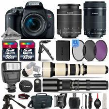 Canon EOS Rebel T7i SLR Camera 800D + 18-55mm + 55-250mm IS STM Lens - 64GB Kit