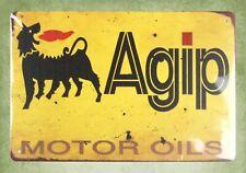 Vintage Rare Italian Agip oil Servizio Reproduction Sign Alfa Fiat Ferrari