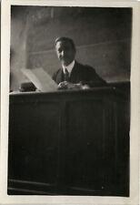 PHOTO ANCIENNE - VINTAGE SNAPSHOT - ÉCOLE CLASSE BUREAU PROFESSEUR - SCHOOL 1930