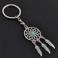 Metal Key Chain Ring Feather Tassels Dream Catcher Keyring Keychain SE