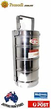 Stainless Steel Lunch Box/tiffin/picnic Box dabba box 4 Tier AU Express Postage