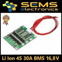 4S 30A Li-Ion LiPo Battery 18650 Charger BMS Protection Board 16,8V  Balancer