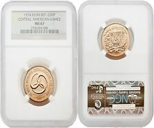 Dominican Republic 1974 Central American Games 30 Pesos Gold NGC MS67
