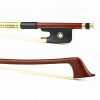 4/4 Size Advanced Pernambuco Cello Bow,ebony frog abalone inlaid,Brass Alloy