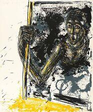 Steffen volmer-cabeza-trabajo-farbsiebdruck 1990