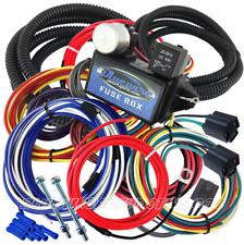UNIVERSAL 12-CIRCUIT SHORT WIRE HARNESS FUSE BLOCK HOT ROD GM HOLDEN CHEV FORD