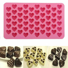 F Silicone 55 Heart Cake Chocolate Cookies Baking Mould DIY Ice Cube Mold Tray