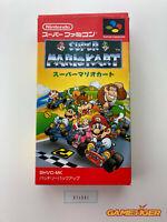 SUPER MARIO KART Nintendo Super Famicom SNES JAPAN Ref:314962
