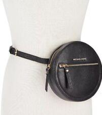 Michael Kors Round Pebble Leather Black/Gold L/XL Fanny Pack