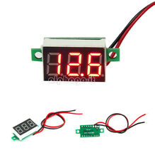 2PCS DC 4.7~32V Mini Red LED Panel Voltage Meter 3-Digital Adjustment Voltmeter