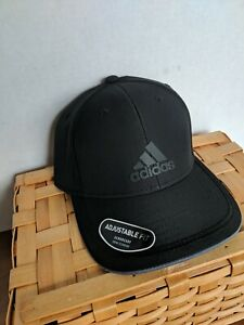 ADIDAS Men's Contract III Cap Climalite Adjustable Fit Hat Black One Size NEW!