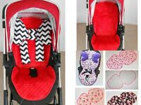 Seat Liners to fit Silver Cross Wayfarer / Pioneer / Surf  Oyster  pushchair