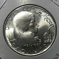 1991 CZECHOSLOVAKIA SILVER 100 KORUN BRILLIANT UNCIRCULATED MOZART