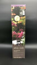 Allen + Roth Solar Globe Light Black Iron Finish Crackle Glass LED 0805187 New