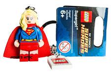 LEGO SUPERHEROS SUPERGIRL KEYRING KEYCHAIN BRAND NEW