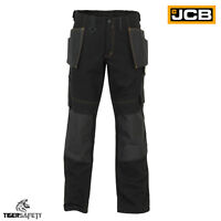 JCB Cheadle Trade Black Cargo Combat Multi Pocket Heavy Duty Work Trousers Pants