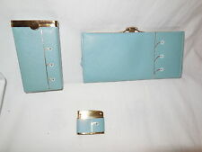 Vtg Lady Buxton Cigarette Lighter,Case and Matching Wallet Mid Century Madmen