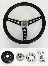 "1967 Oldsmobile Cutlass 442 Delta Black Grip on Black Steering Wheel 14 1/2"""