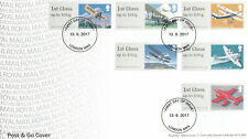 (57206) GB FDC Post and Go Mail by Air London NW4 2017