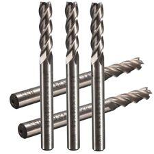 SWT 5pcs/set Extra Long 6mm 4 Flute HSS &Aluminium End Mill Cutter CNC Bit  K2P9