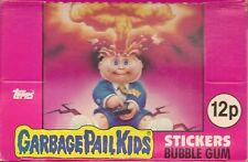 1985 TOPPS UK IRELAND GARBAGE PAIL KIDS SERIES 1 EMPTY SHOP COUNTER  DISPLAY BOX